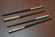 Red Abalone Shell Wood Hairsticks