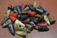 50 Pcs Assort Color Buffalo Horn Toggle Buttons 3/4""