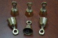 "Handmade Solid Brass Metal Farm Bells 1 3/4"""