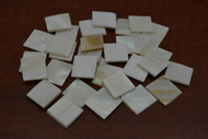 White Square Mother of Pearl Shell Blanks