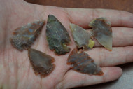 "Small Red Agate Stone Spearpoint Arrowheads 1"" - 1 1/2"""