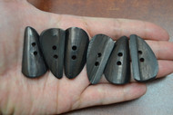 Black Curved Buffalo Horn Toggle Buttons