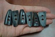 Drip Black Buffalo Horn Toggle Buttons