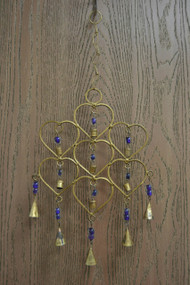 Handmade Purple Heart Rusty Iron Metal Bells Windchime