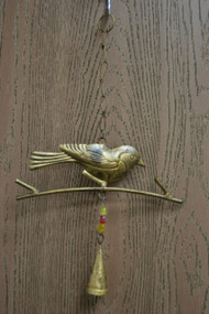 Handmade Bird Rusty Iron Metal Bells Windchime