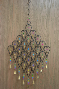 Handmade Rusty Iron Metal Bells Oval Diamond Windchime