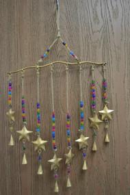 Handmade Star Rusty Iron Metal Bells Windchime