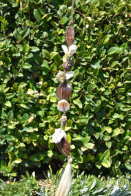 Handmade Seashell and Coconut Windchime 36""