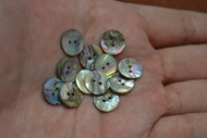 Abalone Shell Sewing Round Buttons 11mm