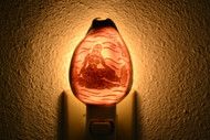 Carved Tiger Mermaid Cowrie Shell Nightlight