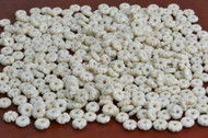 Carved Cream Brown Bone Round Beads 10mm