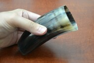 Dark Honey Buffalo Horn Medieval Drinking Ale Cup 5""