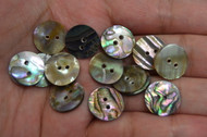 Abalone Shell Sewing Round Buttons 15mm