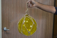 Yellow Reproduction Glass Float Fishing Balls Buoy 10""