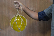 Yellow Reproduction Glass Float Fishing Balls Buoy 8""