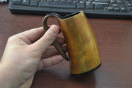 Brown Buffalo Horn Medieval Ale Drinking Cup 5""