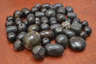 "200 Pcs Assort Black Resin Plastic Beads 1/2"" - 1 1/4"""