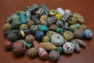 200 Pcs Assort Handmade Carved Clay Beads