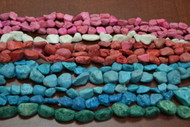 12 Strands Assort Handmade Carved Clay Beads
