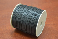 100 Meters Black Waxed Cotton Beading Cord Roll 1.5mm