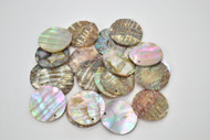 12 Pcs Round Abalone Shell Charm Pendants 25mm