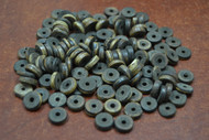 Round Brown Cholocate Plain Disc Bone Beads 10mm