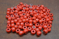 100 Pcs Red Pony Crow Glass Beads