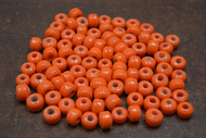 100 Pcs Orange Pony Crow Glass Beads