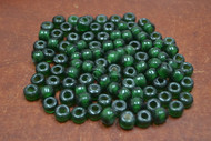 100 Pcs Green Pony Crow Glass Beads