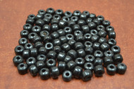100 Pcs Black Pony Crow Glass Beads