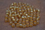 100 Pcs Yellow Pony Crow Glass Beads