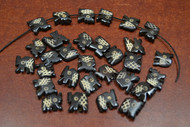30 Pcs Chocolate Brown Carved Elephant Buffalo Bone Beads 1/2""