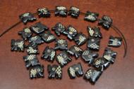 """30 Pcs Chocolate Brown Carved Elephant Buffalo Bone Beads 1/2"""""""