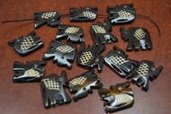 """15 Pcs Chocolate Brown Carved Elephant Buffalo Bone Beads 1"""""""