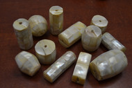 12 Pcs Assort Mother of Pearl Shell Wood Beads