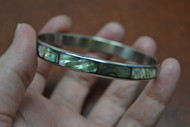 Copy of Abalone Shell Stainless Steel Bangle Bracelet 1/4""
