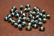 Chocolate Brown Mudbone Stripe Bone Tube Beads 9mm