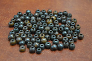 Plain Chocolate Brown Round Buffalo Bone Beads 4mm