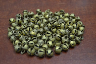 100 Pcs Belly Dance Solid Brass Jingle Bells 8mm