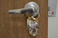 Purple Seashell Hanger Door Bottle Beach Decor