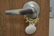 White Irish Seashell Hanger Door Bottle Beach Decor
