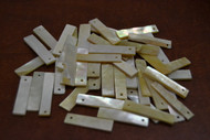 100 Pcs Mother of Pearl Blank Shell Stick Charms