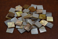 100 Pcs Square Mother of Pearl Shell Blank Inlay Material 1/4""