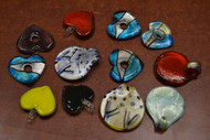 Assort Handmade Heart Glass Charm Pendants