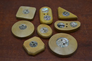 8 Pcs Assort Wood Abalone Shell Buttons
