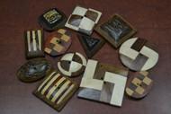 12 Pcs Assort Wood Sewing Buttons