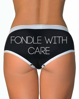 Fondle With Care - Boy Brief Underwear Aesop Originals Clothing (Black)