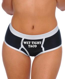 Wet Tight Taco - Boy Brief Underwear Aesop Originals Clothing (Black)