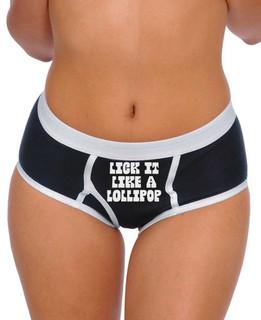 Lick It Like A Lollipop - Boy Brief Underwear Aesop Originals Clothing (Black)