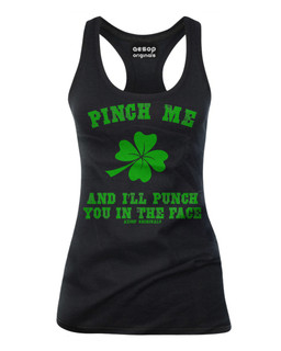 Pinch Me And I'll Punch You In The Face - Tank Top Aesop Originals Clothing